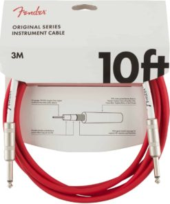 FENDER ORIGINAL SERIES INSTRUMENT CABLE FIESTA RED 10