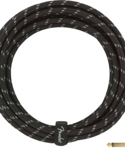 FENDER DELUXE SERIES INSTRUMENT CABLE STR-ANGL BLACK TWEED 5
