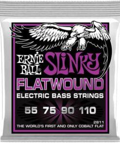 ERNIE BALL BASS POWER SLINKY FLATWOUND
