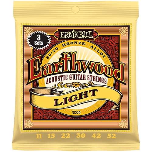 ERNIE BALL EARTHWOOD LIGHT 3-PACK