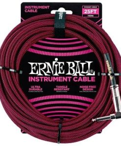 ERNIE BALL 25FT CABLE BLK/RED ANGLED
