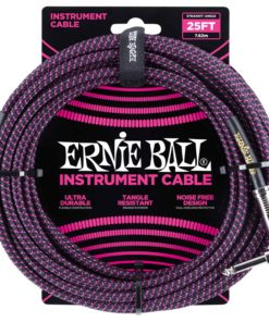 ERNIE BALL 25FT CABLE PURPLE ANGLED