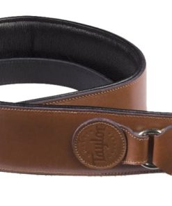 TAYLOR LEATHER BADGE STRAP TAN