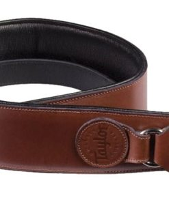 TAYLOR LEATHER BADGE STRAP BROWN