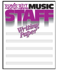 ERNIE BALL MUSIC STAFF WRITING BOOK