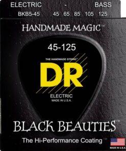 DR STRINGS BLACK BEAUTIES BASS 5-STRING 45-125