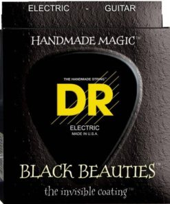 DR STRINGS BLACK BEAUTIES ELECTRIC 12-52
