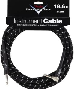 FENDER CUSTOM SHOP INSTRUMENT CABLE STRAIGHT-ANGLE BLACK 5