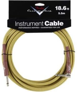 FENDER CUSTOM SHOP INSTRUMENT CABLE STRAIGHT-ANGLE TWEED 5