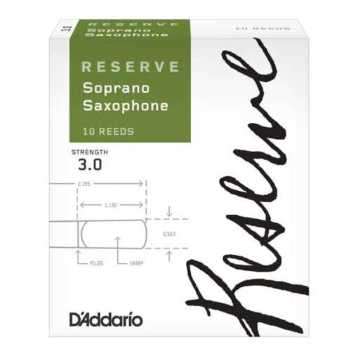 DADDARIO RESERVE SOPRAN SAX 3.0 10-PACK