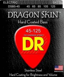 DR STRINGS DRAGON SKIN BASS 5-STR 45-125