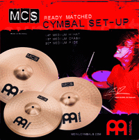 MEINL MCS COMPLETE CYMBAL SET UP