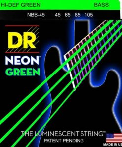 DR STRINGS NEON GREEN BASS 45-105