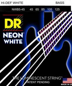 DR STRINGS NEON WHITE BASS 5-STRING 45-125