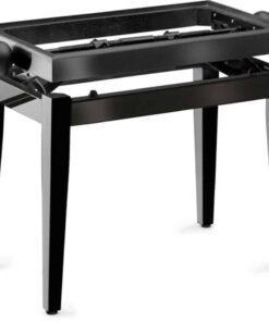 STAGG PB45 BLACK POLISHED PIANO BENCH