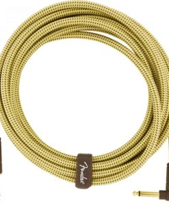 FENDER DELUXE SERIES INSTRUMENT CABLE STR-ANGL TWEED 4