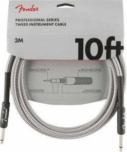 FENDER PROFFESSIONAL SERIES INSTRUMENT CABLE WHITE TWEED 10