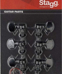 STAGG ELECTRIC GUITAR MACHINE HEADS BLACK