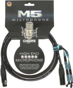 KLOTZ MIC CABLE 6M XLR M/F