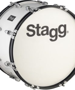 """STAGG 20""""x10"""" MARCHING DRUM WHITE"""
